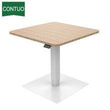 High Quality for One Leg Standing Desk,Adjustable Computer Table,Adjustable Height Table Manufacturers and Suppliers in China Electric Control Small Table For Workstation Wooden Meeting supply to Uzbekistan Factory