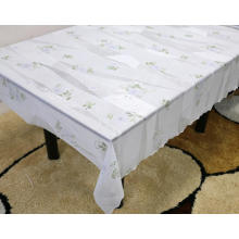elastic rectangle Printed pvc lace tablecloth by roll