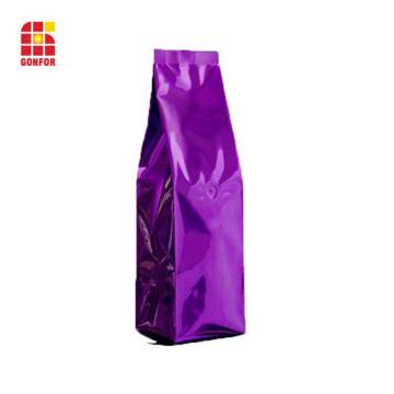 Aluminum foil coffee bag with air valve