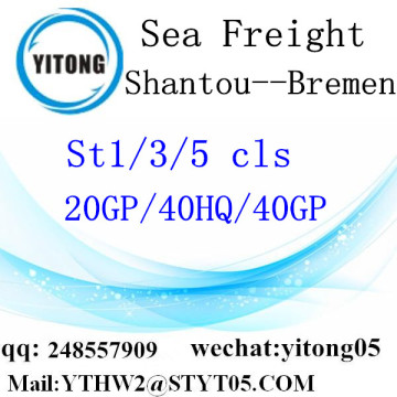 Shantou Sea Freight to Bremen