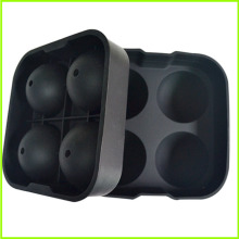 Custom High Quality 4-Cavity Silicone Ice Ball Maker