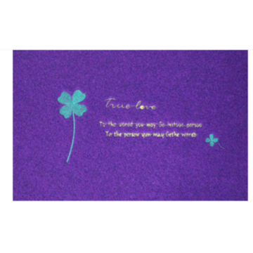 Embroidery style velour door mat logo entrance mat