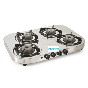 4 quemadores SS Gas Stove Auto Ignition