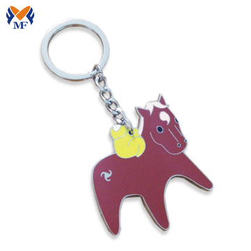 Metal cute animals small keychain