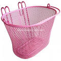New Design Pink Color Basket for Bicycle