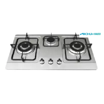 3 Burners Stainless Steel Gas stove Gas Cooktops