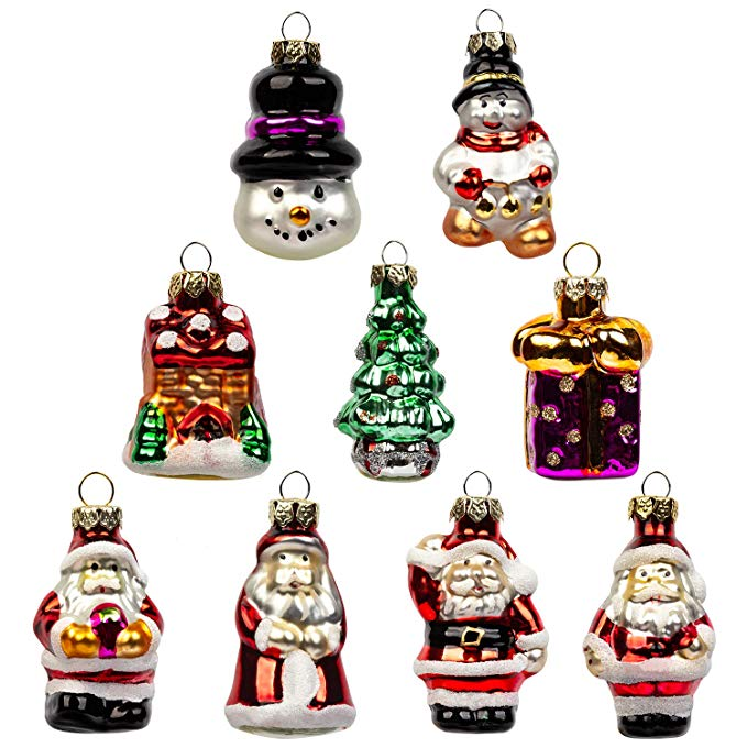 Mini Christmas Glass Ornaments