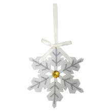 Online Exporter for Glass Christmas Ornaments New style white christmas snowflakes ornaments export to Spain Manufacturers
