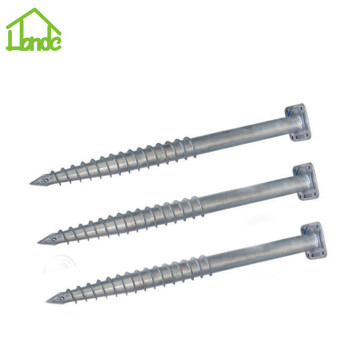Hot galvanized ground screw with square flange