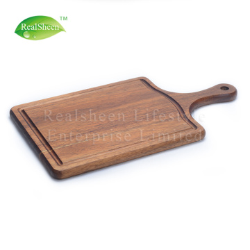 Paddle Acacia Wood Steak Board with Juice Groove