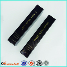 Hot Sale Glossy Blak Paper Eyeliner Box