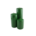 scented pillar candle ice blue color candle