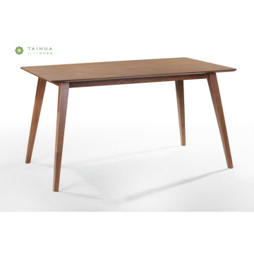Solid Wood Dining Table 1.4M Dark Walnut