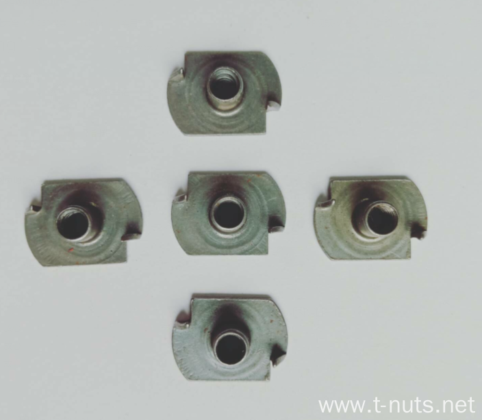 Square bottom Two claw  steel Tee Nuts
