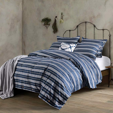 Washed Cotton dyed & printed duvet cover
