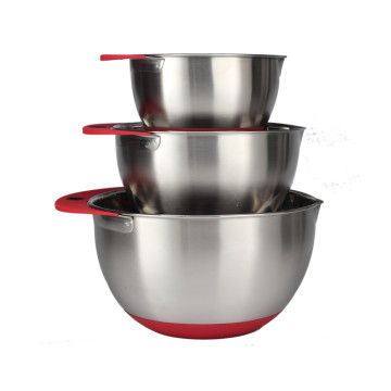Anti-slip Bottom Stainless Steel Mixing Bowl Set of3pcs