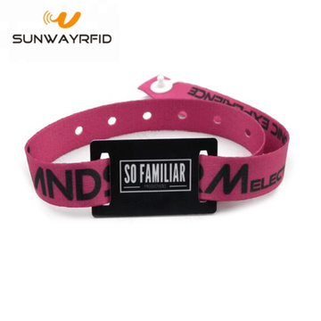 Passive 13.56MHz Fabric RFID NFC Woven Wristband