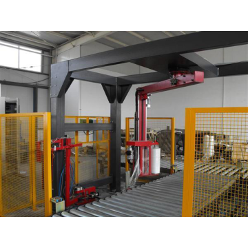 High speed automatic rotary arm pallet stretch wrapper