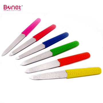 Stainless Steel Nail File With Plastic Handle