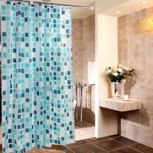 Shower curtain PEVA Blue Cube