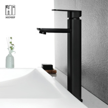 Black Full Brass Above Counter Basin Water Faucet
