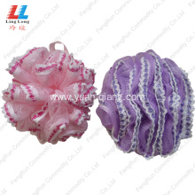 Customized for Loofah Mesh Bath Sponge Lace Elegant Bath Sponge shower body sponge supply to South Korea Manufacturer