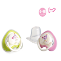 Safety Flat Heart Shape Baby Silicone Pacifier