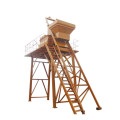 Hydraulic drive portable concrete mixer