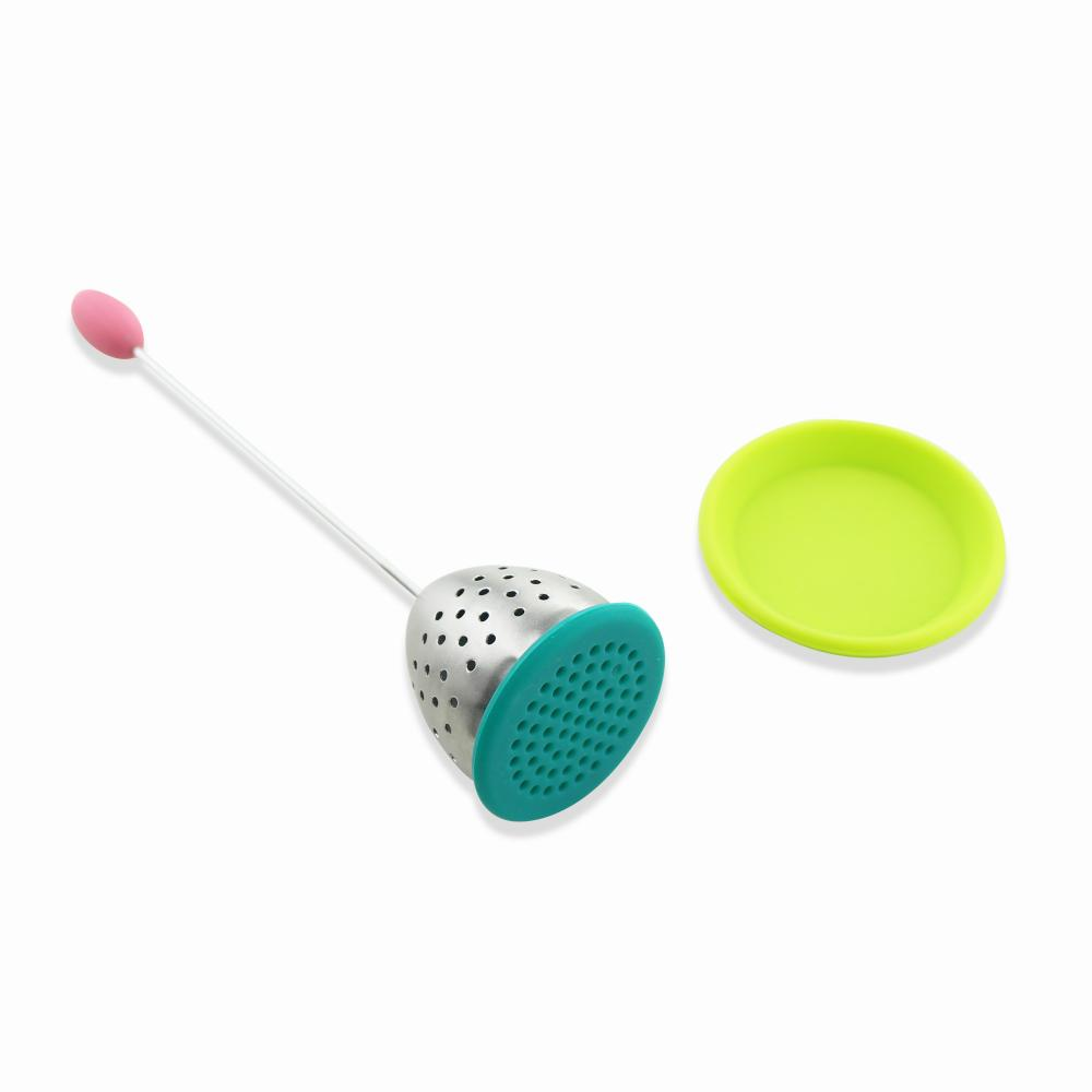 Mesh Strainers Silicone Tea Infuser with Drip Tray