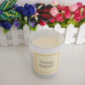 glass jar scented soy wax candle