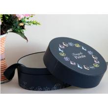 Customized Black Round Paper Gift Box for Flower