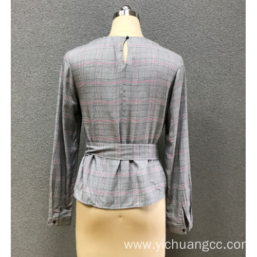 women`s round neck blouse