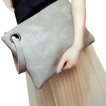 Latest Ladies Elegance Leather Large Trendy Clutch Bag