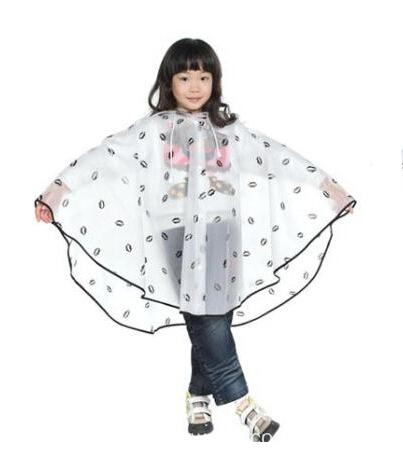 Transparent 100% Waterproof Kids Poncho