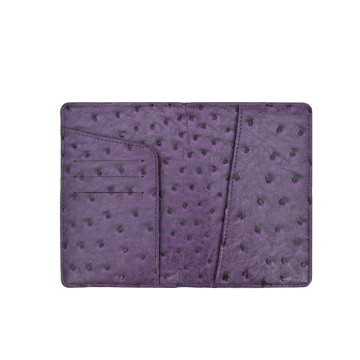 Best Price Top Ostrich Leather Passport Holder Cover