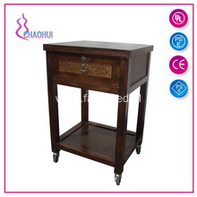 Wooden Rolling Salon Handcart For Sale Wholesale
