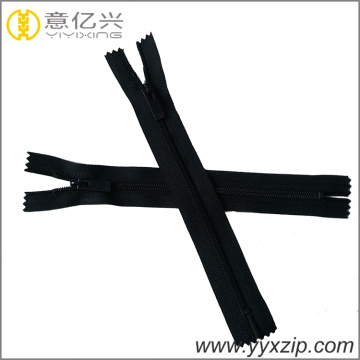 Safety Plastic End Nylon Zipper for Casual Wear