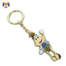 Metal custom name gold keyring with logo