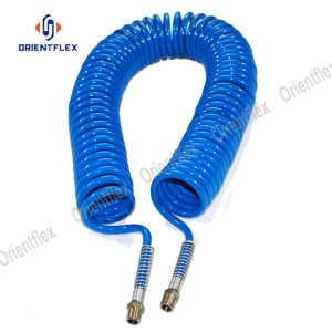 Spiral weather resistant gardening PA coil hose set