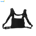 Multifunction Black Fabric Outdoor Vest