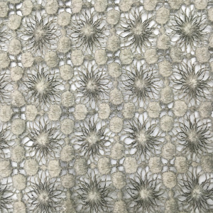 Mat Poly Piece Dyed Chemical Lace Fabric