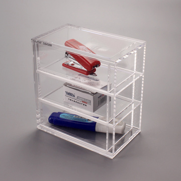 Custom Small Lucite Desk Drawer Organizer
