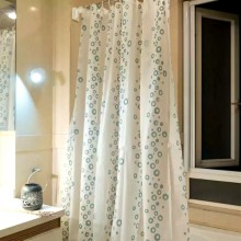 Shower Curtain PEVA Grey Dots