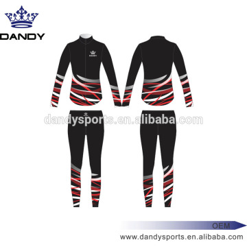 Low Cost for Warm Up custom stripes black sublimated cheer uniforms export to Saint Vincent and the Grenadines Exporter