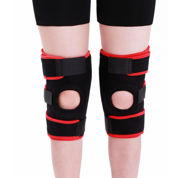 Metal Spring Neoprene Sports Knee Support Brace