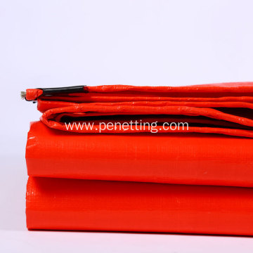 Red Heavy-Duty Waterproof PE Tarpaulin 150G/M2
