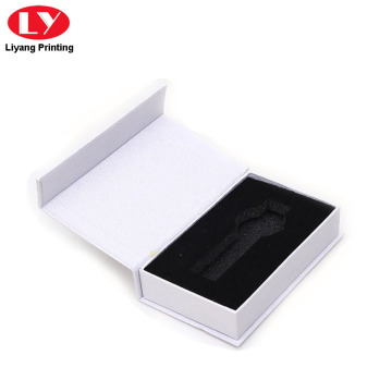 Fancy white watch boxes for single watch packaging