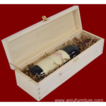1 bottle Single Bottle Wooden Wine Box