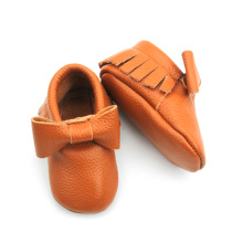 Wholesale Indoor Infant Bowknot Baby Girl Moccasins
