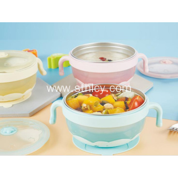 New 304 stainless steel children's water injection bowl